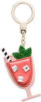 Kate Spade Leather passion fruit drink keychain