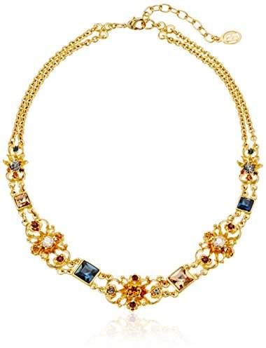 Swarovski Ben-Amun Jewelry Arabian Nights Crystal Deco Station Choker Necklace