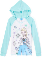 Jerry Leigh Frozen Blue & White Elsa Hoodie - Girls