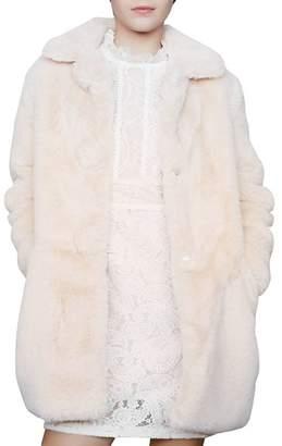 Maje Glina Faux-Fur Coat