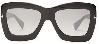 Tom Ford Oversized Acetate Butterfly Sunglasses - Womens - Black