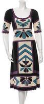 Temperley London Silk Patterned Dress