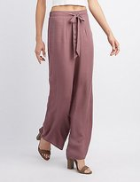 Charlotte Russe Tie-Front Palazzo Pants