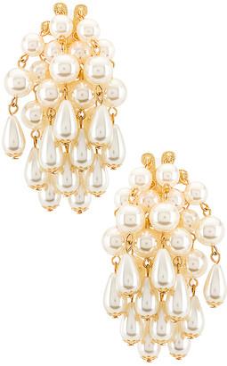 Lele Sadoughi Pearl Cluster Earrings