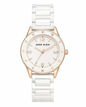 Anne Klein Women's Ceramic Bracelet Watch