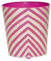 Worlds Away Happy Wastebasket