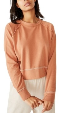 Cotton On Aria Raw Edge Raglan Crew Sweatshirt