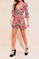 For Love & Lemons Pink Floral Printed Dress