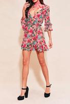 For Love & Lemons Pink Floral Printed Dress