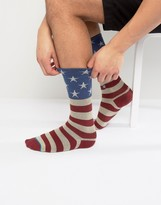 Stance The Fourth Sock With American Flag In Red