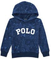 Ralph Lauren Hooded Floral Pullover Sweatshirt, Blue Tropical, Size 2-4