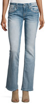 Miss Me Boot-Cut Embellished Pocket Jeans, Light Blue 77B