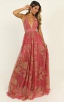 Showpo Lifes A Breeze Maxi Dress in coral floral - 8 (S) The Floral
