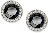 Charter Club Silver-Tone Jet and Crystal Stud Earrings