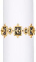 Freida Rothman Two-Tone Hammered Clover Shield Line Bracelet