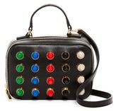 Milly Leather Color Studs Mini Satchel