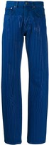 Y/Project striped straight leg jeans