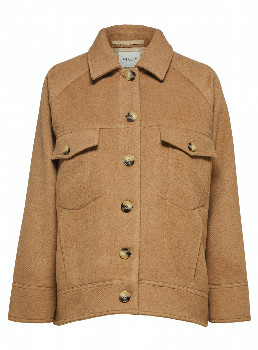 Selected Maddy Wool Jacket - Tigers Eye - Size 36 (UK 10)