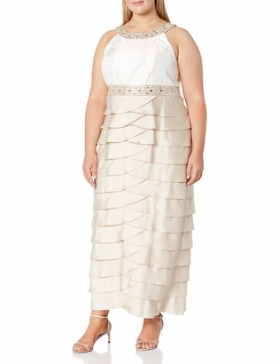 Jessica Howard JessicaHoward Women's Size Beaded Yoke Gown