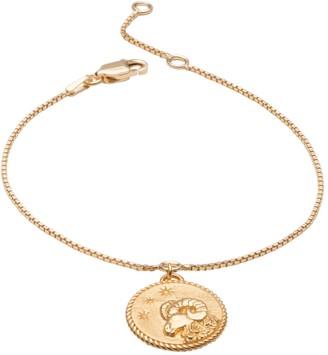 Rachel Jackson London Zodiac Art Coin Aries Bracelet Gold