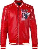 Philipp Plein Sense bomber jacket - men - Calf Leather/Polyester/Viscose - L