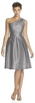 Alfred Sung One Shoulder A-line Dress in Quarry D458