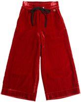 Simonetta Wide Leg Velvet Pants