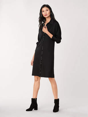 Diane von Furstenberg Snow Wool-Jersey Shirt Dress