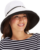 Nine West Black & White Canvas Kettle Hat