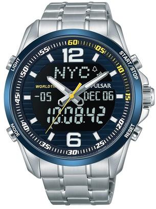 Pulsar Unisex Analogue Quartz Watch with Stainless Steel Plated Bracelet PZ4003X1