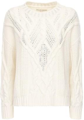 Ermanno Scervino Crystal Embellished Crewneck Sweater