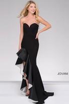 Jovani Strapless Sweetheart Ruffle Prom Dress 46289