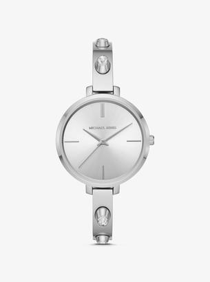 Michael Kors Jaryn Studded Silver-Tone Watch