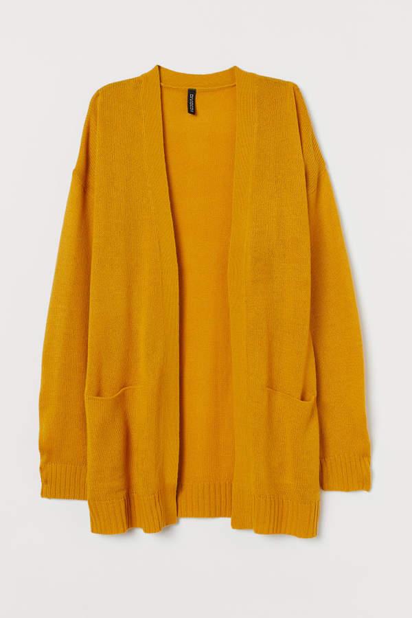 H&M Knit Cardigan - Yellow
