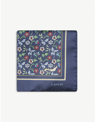 Lanvin Floral-pattern silk pocket square