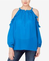 Catherine Malandrino Catherine Ruffled Off-The-Shoulder Top