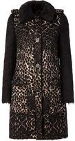 Lanvin contrast sleeve coat - women - Silk/Acrylic/Polyamide/Deer Horn - 36