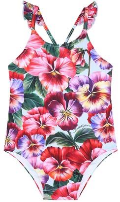 Dolce & Gabbana Kids Floral swimsuit