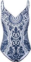 Mary Katrantzou Card print swimsuit - women - Polyester/Spandex/Elastane - S