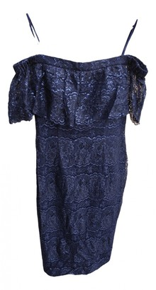 Theia Navy Lace Dress for Women