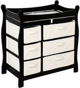 Badger Basket Sleigh Basket Changing Table Dresser