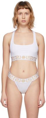 Versace Underwear White Medusa Sports Bra