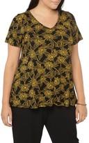 Evans Plus Size Women's Floral Print Top