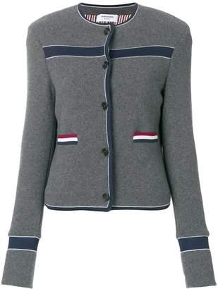 Thom Browne Wool Knit Crewneck Jacket