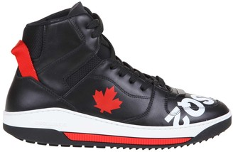 DSQUARED2 Barkley Sneakers In Black Leather