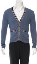 Shipley & Halmos Stripe-Trimmed Knit Cardigan