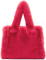 Stand Studio Pink Faux-fur Small Liz Tote