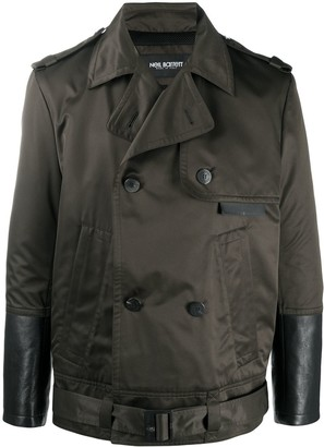 Neil Barrett Double-Breasted Trench-Style Coat