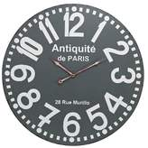 "Lazy Susan Antiquité de Paris 24"" Round Wall Clock Gray"