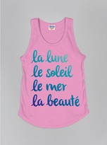 Junk Food Clothing Kids Girls La Lune Tank-kiss-xs
